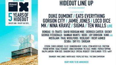 Hideout festival 2015 line up