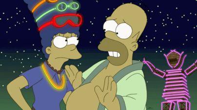 A Simpson család a Burning Man fesztiválon