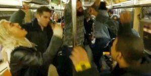 Megint buli volt a londoni metróban