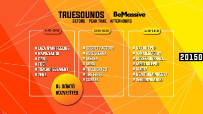Be Massive & Truesounds: Ikrek Éjszakája BEFORE Roof Party, BE Massive Night Party, Be Fresh After Party