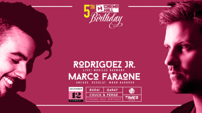 12/12 Cinema Hall 5th Birthday with Rodriguez Jr & Marco Faraone