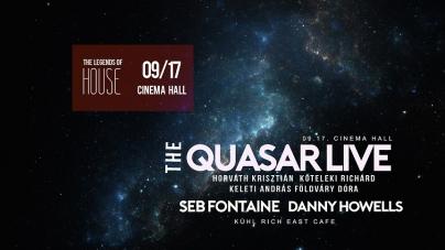 House legendákkal indít a Cinema Hall: QUASAR, Danny Howells, Seb Fontaine