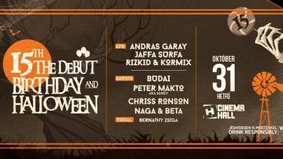15 éves fennállását ünnepli október 31-én a The Debut!