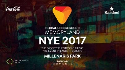 Global Underground & Legendary Moments – MEMORYLAND NYE 2017, Millenáris