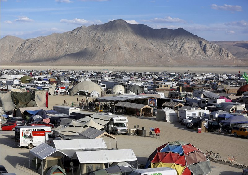 A view of Black Rock City as approximately 70,000 people from all over the world gather for the 30th annual Burning Man arts and music festival in the Black Rock Desert of Nevada, U.S. September 2, 2016.